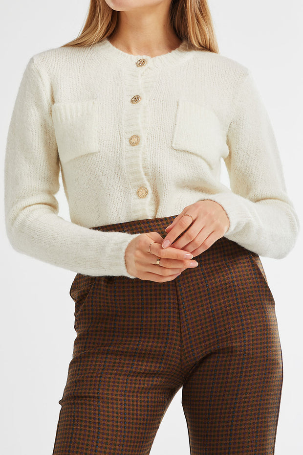 Madison Fuzzy Cropped Cardigan