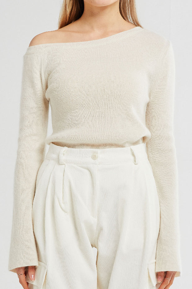 Everly Off-the-Shoulder Knitted Pullover