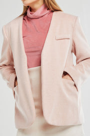 Penelope Collarless Jacket w/Belt