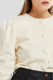 Ellie Puff Sleeve Cord Jacket