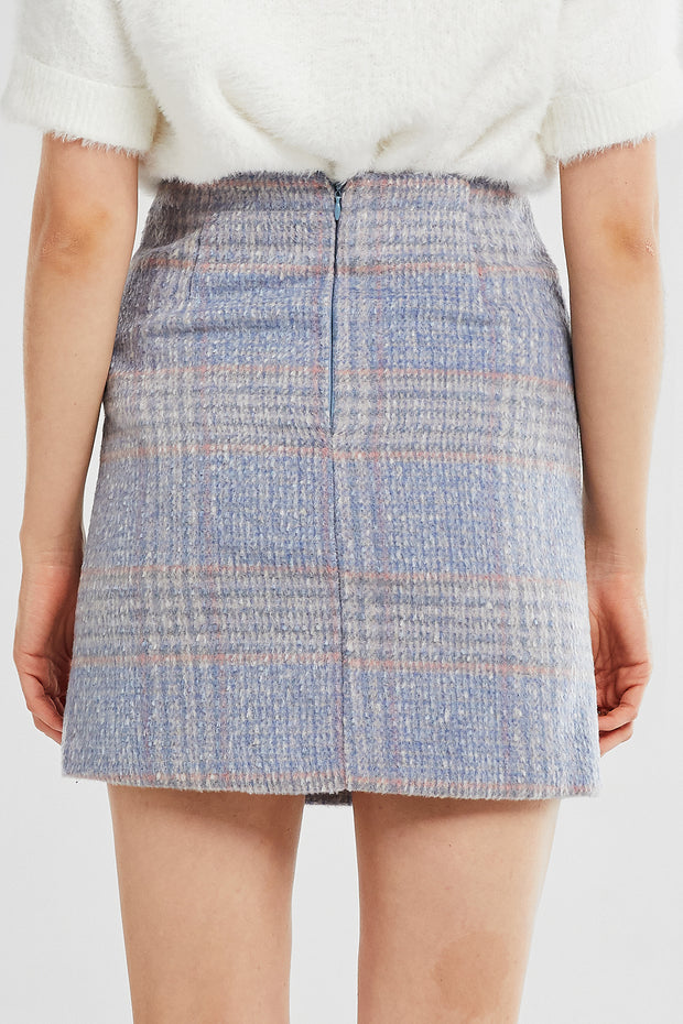 Hadley Fuzzy Plaid Skirt