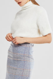 storets.com Elena Turtleneck Fuzzy Knit Top