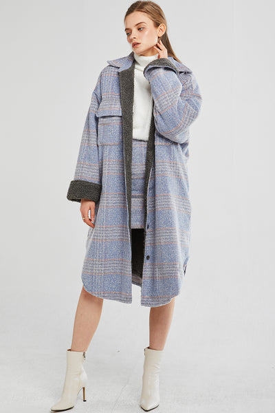 Hadley Oversized Checked Shirt Jacket