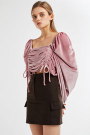 Claire Square Neck Velvet Top