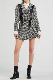 Ivy Lace Trim Houndstooth Jacket