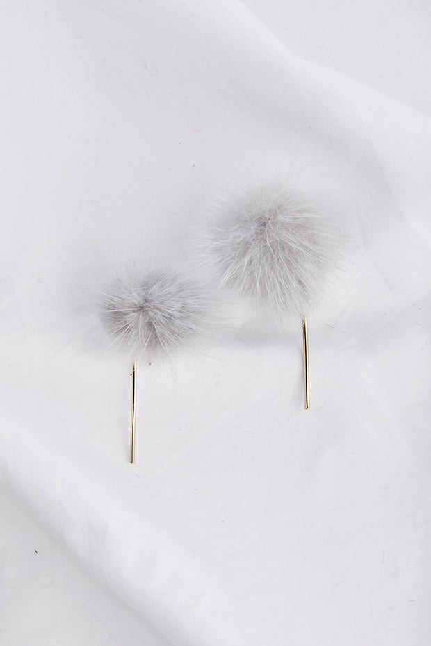 Furry Drop Earrings