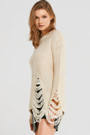 Deena Destroyed Knitted Top