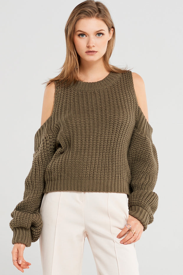 Sabrina Cold Shoulder Pullover