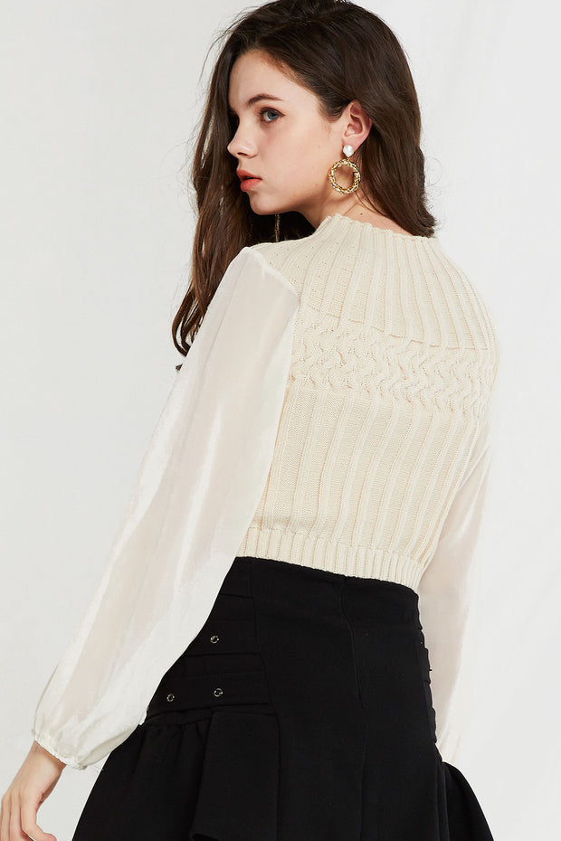 Alecia Knit Sheer Top