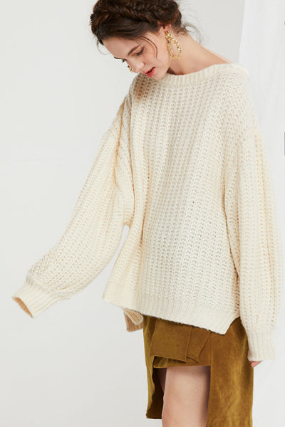 Maricela Knit Boatneck Sweater