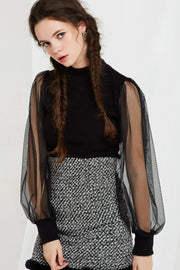 Elissa Sheer Sleeve Top