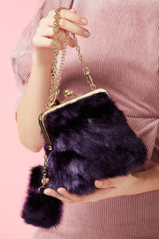 storets.com Karla Faux Fur Purse-2 Colors