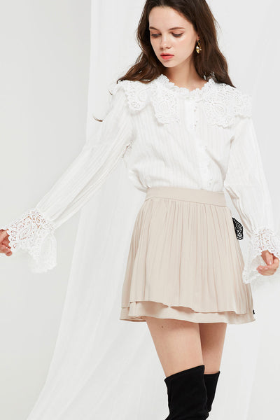 Magdalena Lace Collar Blouse