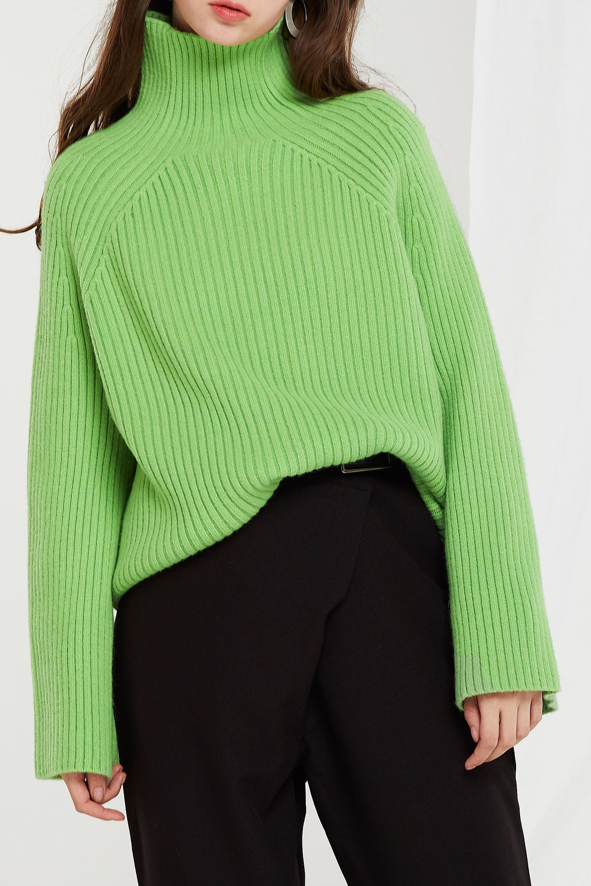 Alice Ribbed Turtleneck Sweater