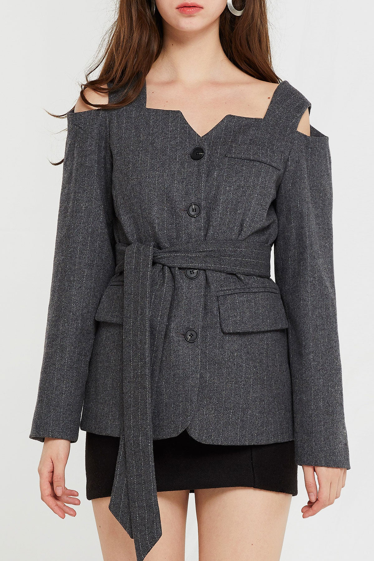 Layla Open Shoulder Jacket