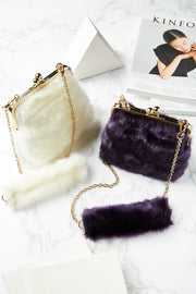 Karla Faux Fur Purse-2 Colors