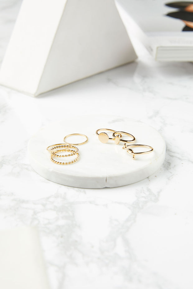 storets.com Millie Rings (Set of 7)