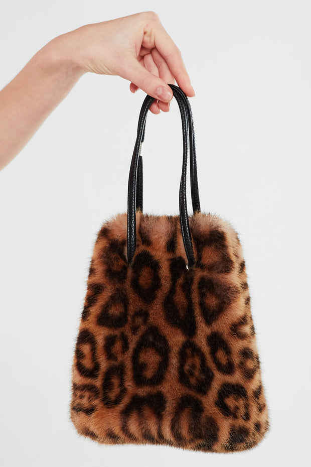 Faux Fur Bucket Bag