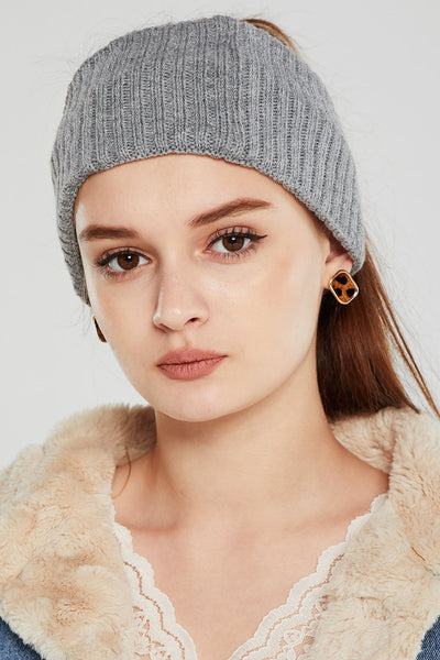 Rib-Knit Hair Turban