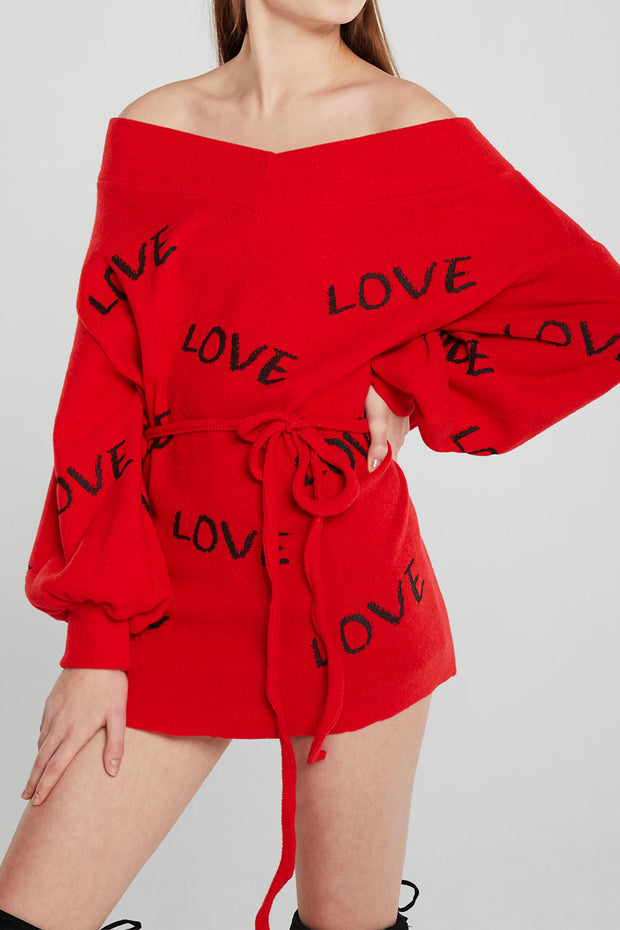Robin Oversized Lettering Sweater