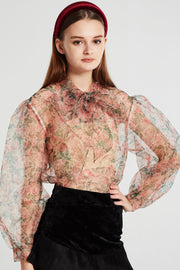 Gwen Floral Pussy Bow Blouse
