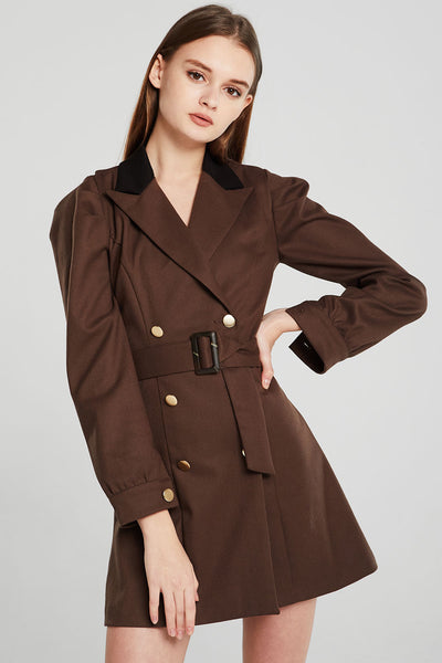 Allie Double Breasted Blazer Dress w/Belt