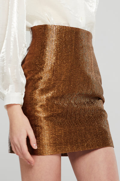 Simone Textured Metallic Skirt