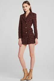 Margot Plaid Blazer Dress