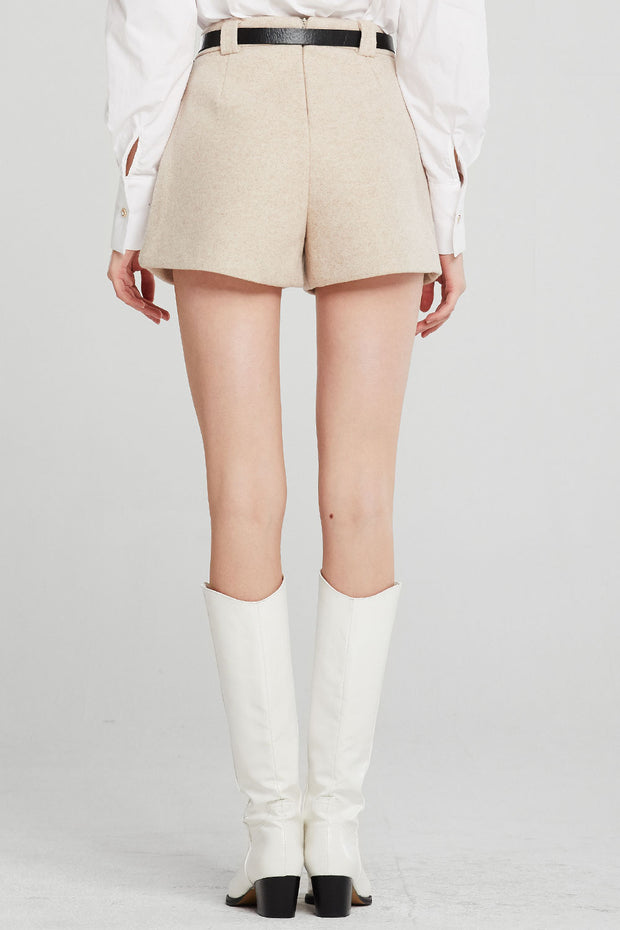 Elyse Woolen Short w/Belt