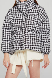 Amber Houndstooth Puffer Jacket