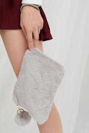Jocelyn Furry Clutch-2 Colors