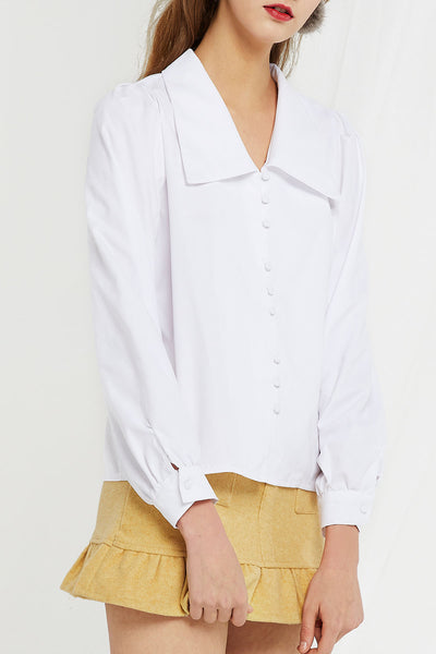 Angelica Large Collar Blouse