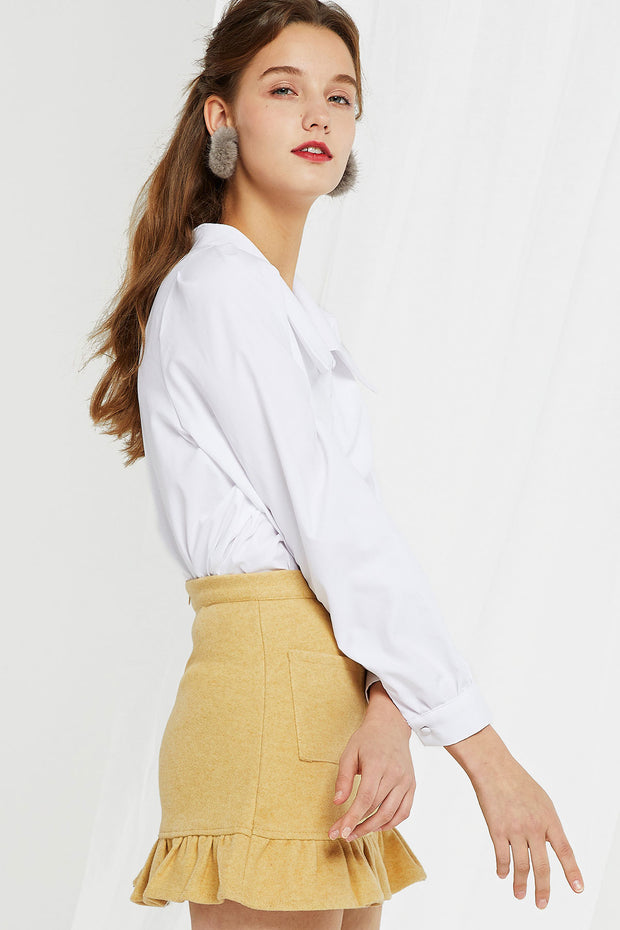 Angelica Large Collar Blouse-2 Colors