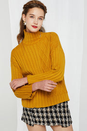 storets.com Josefina Asymmetrical Pattern Turtleneck-2 Colors