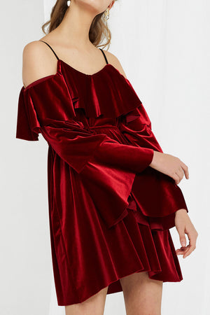 Diane Layered Velvet Dress (Pre-Order)