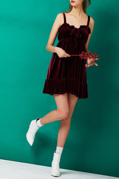 Suzanne Velvet Ribbon Dress