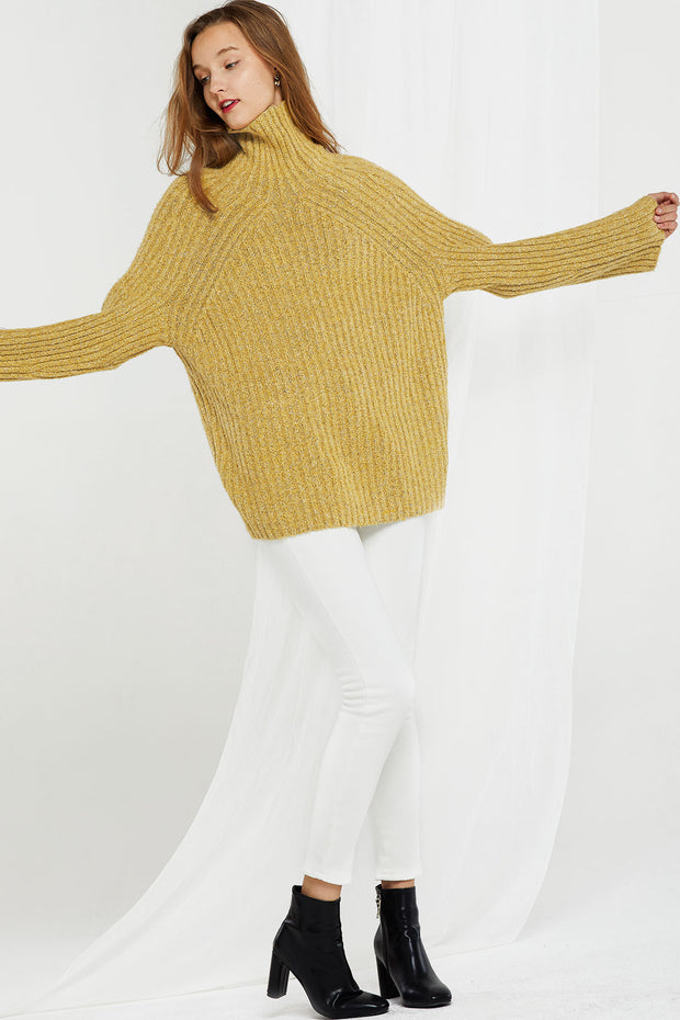 Ashley Ribbed Turtleneck Sweater