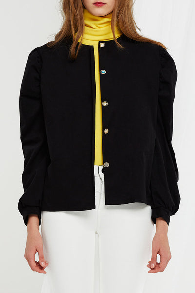 storets.com Ariel Puffed Shoulder Blouse