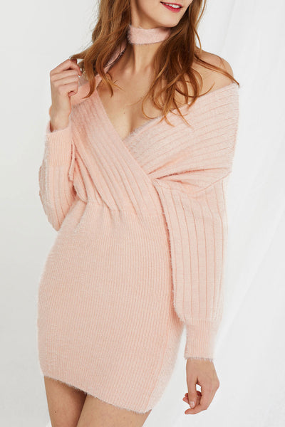 Natalia Knit V-neck Dress