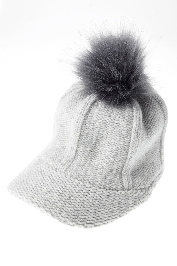 Faux Fur Knitted Cap