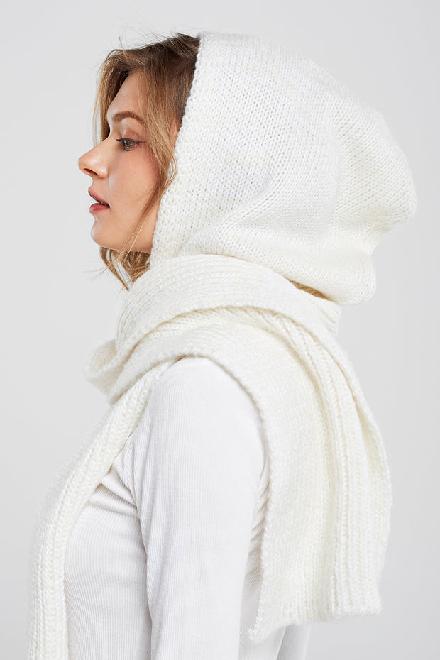 Hoodie Knitted Scarf