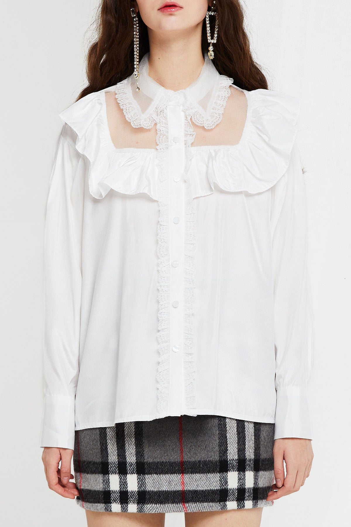 Alice Blouse with Bib Detail