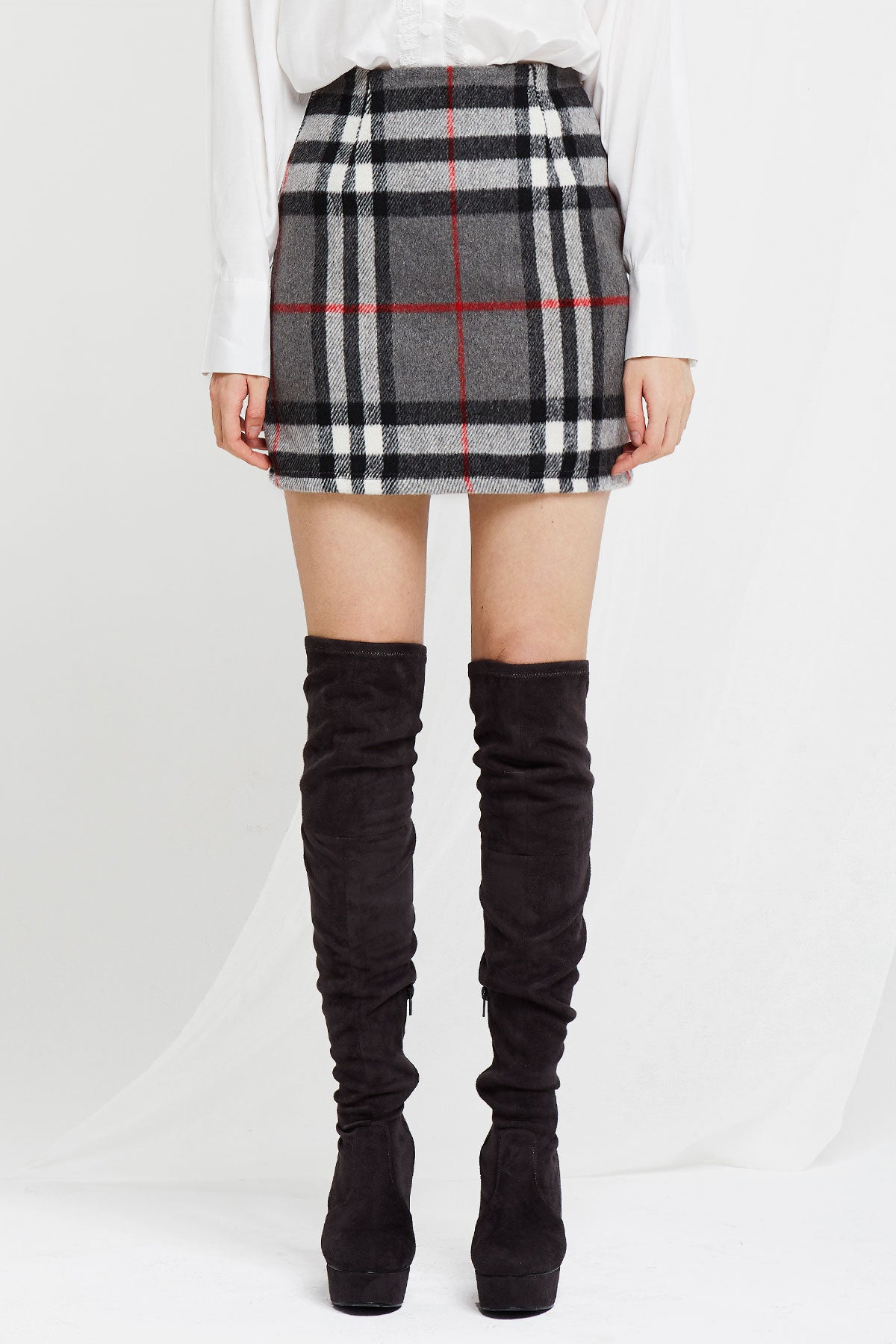 Abby Plaid Mini Skirt