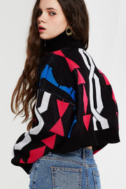 Shazia Cubism Crop Sweater