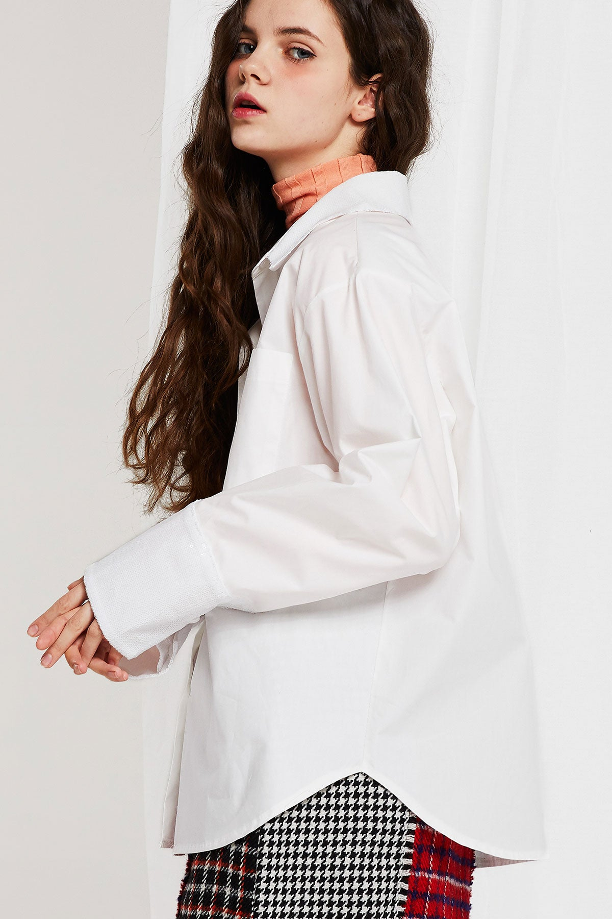 Valery Oversized Shirt with Sequin Detail