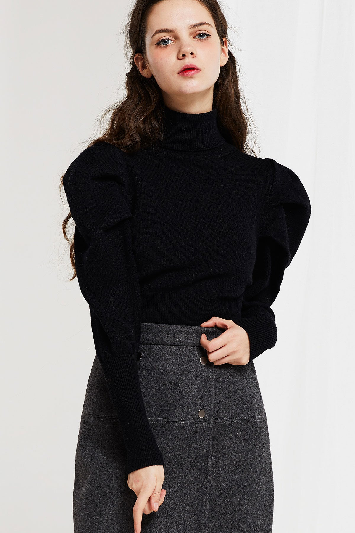 Emilia Puff Sleeve Sweater