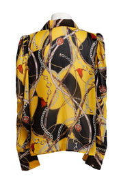 Sora Scarf Print Blouse-2 Colors
