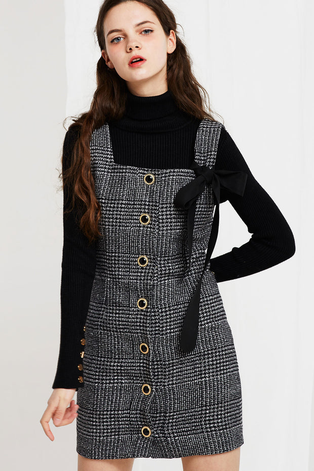 Amelia Pinafore Plaid Dress