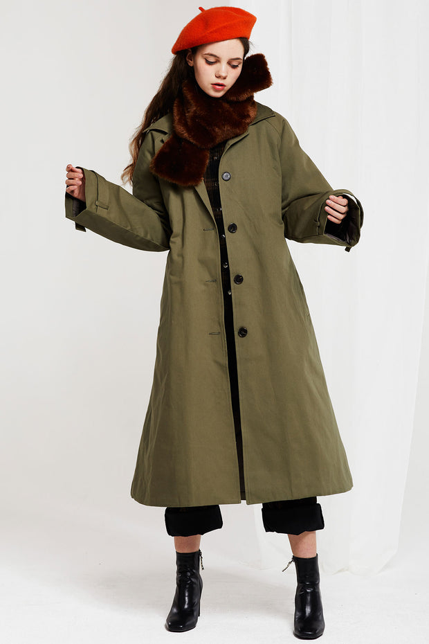 storets.com Lillian Padded Coat with Fur Scarf