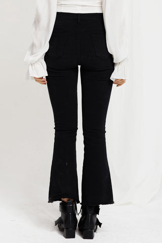 Ava Buttoned Flare Jeans